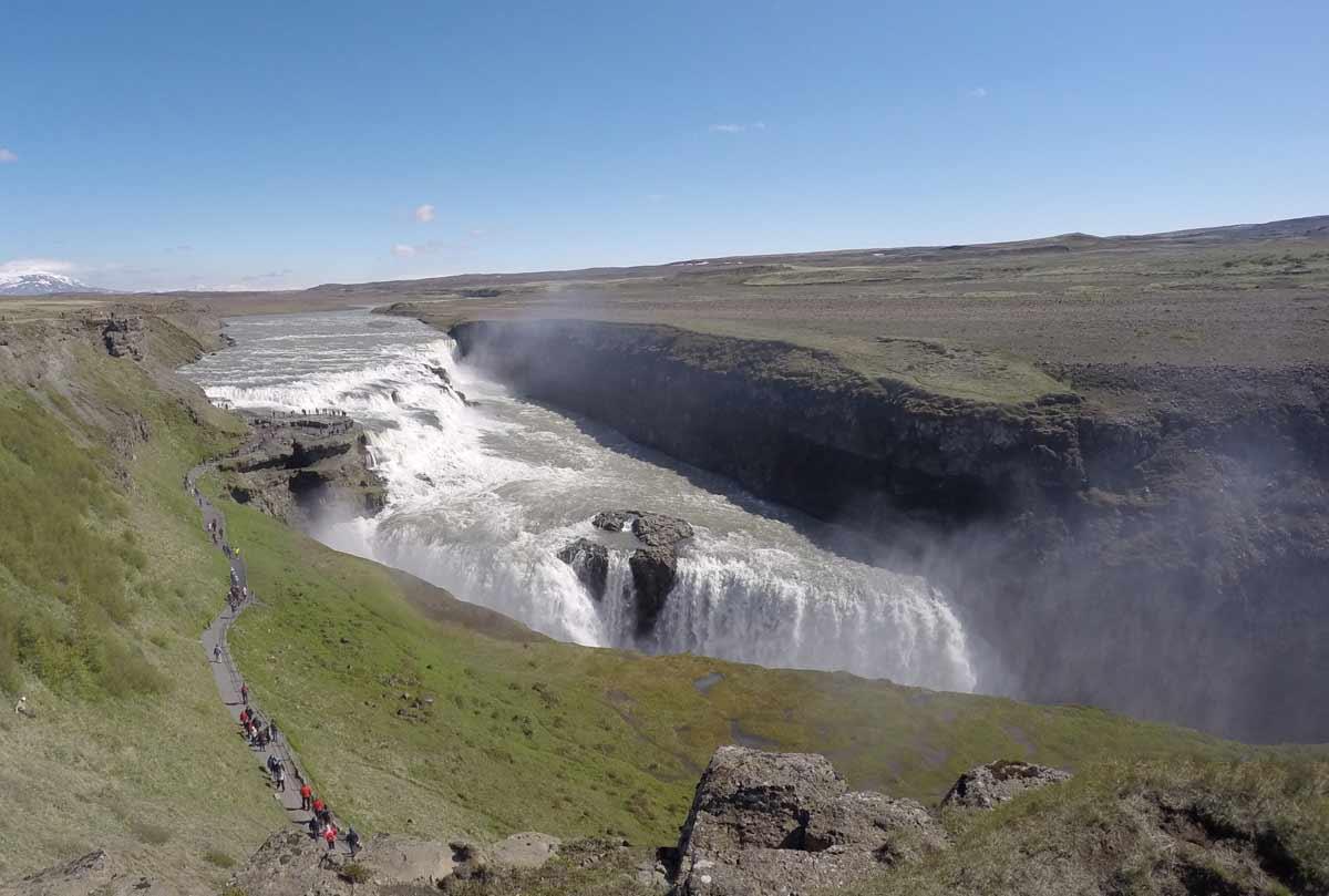 cachoeira de gullfoss na islandia