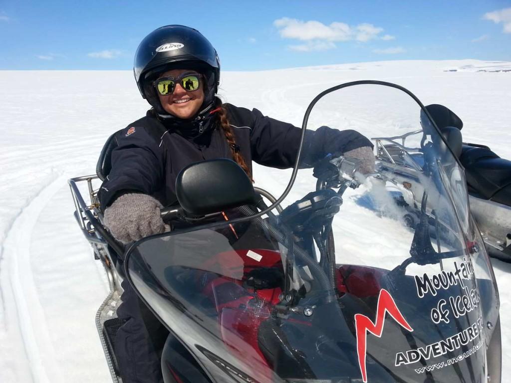 Passeio de snowmobile (moto sobre o gelo) - Lanjokull Glacier - Islândia