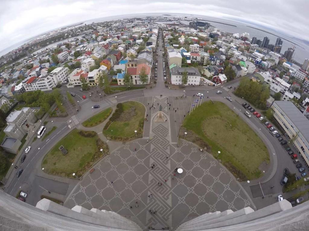 Imagem aérea de Reykjavik, a capital da Islândia