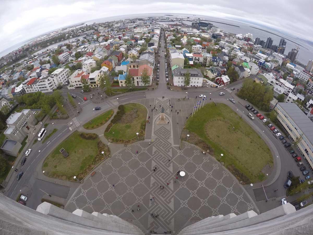 Reykjavik - Above View - Church