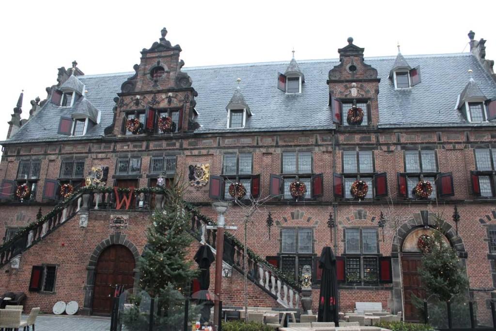 Prédio com arquitetura tradicional preservada nijmegen holanda