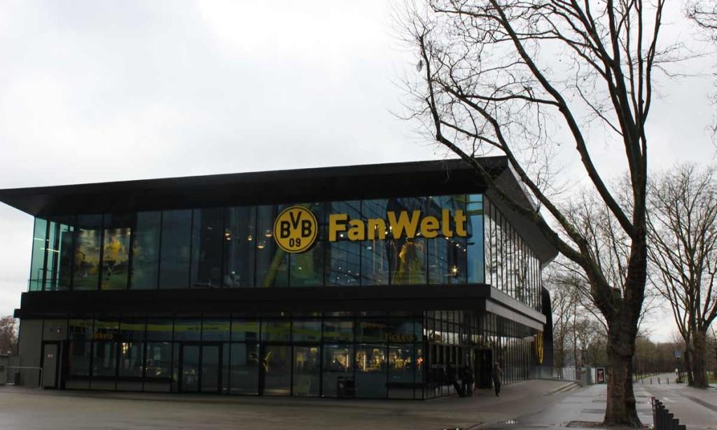 Loja do Borussia é onde você pode comprar os ingressos para o tour.