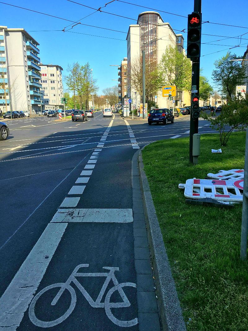 Faixa de bicicletas