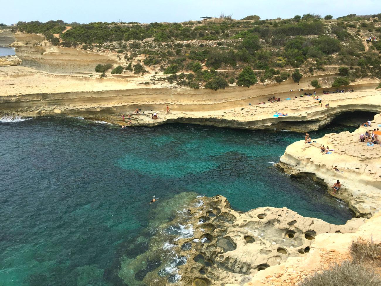 St. Peters Pool, piscina natural em Malta