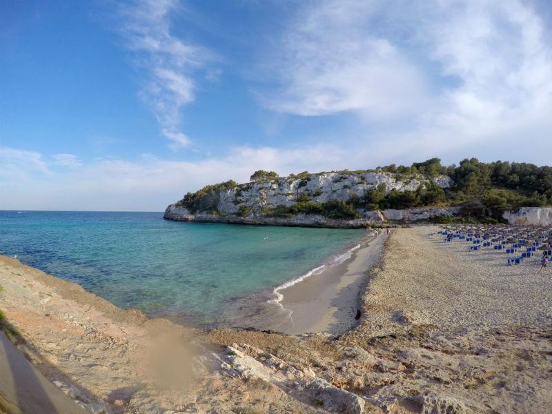 vista da praia de cala romântica, em maiorca