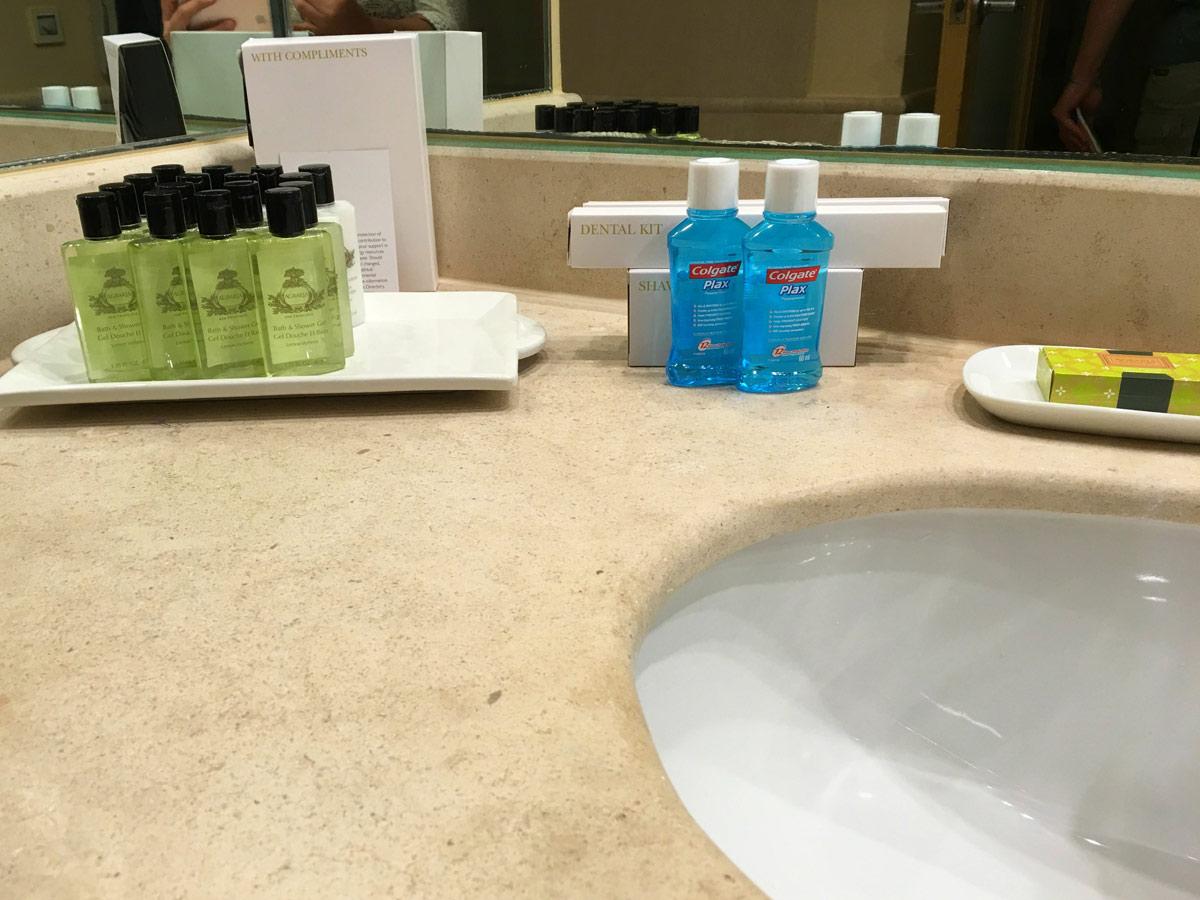 amenidades banheiro Intercontinental Malta