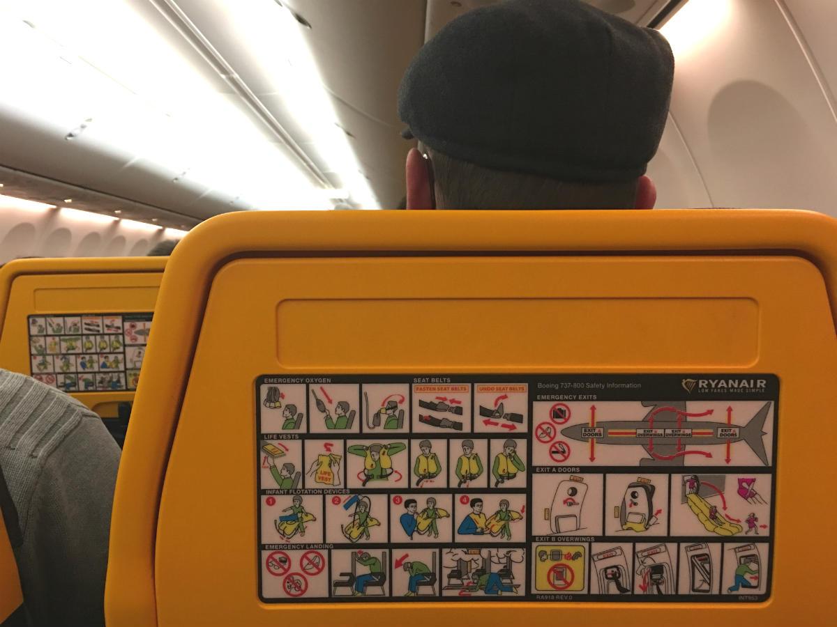 Adesivo Cartão segurança Ryanair