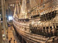 Navio Vasa no museu Vasa em Estocolmo na Suécia
