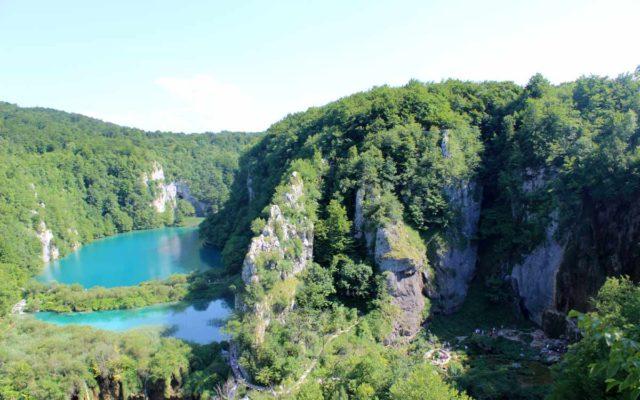 vista aérea dos lagos plitvice