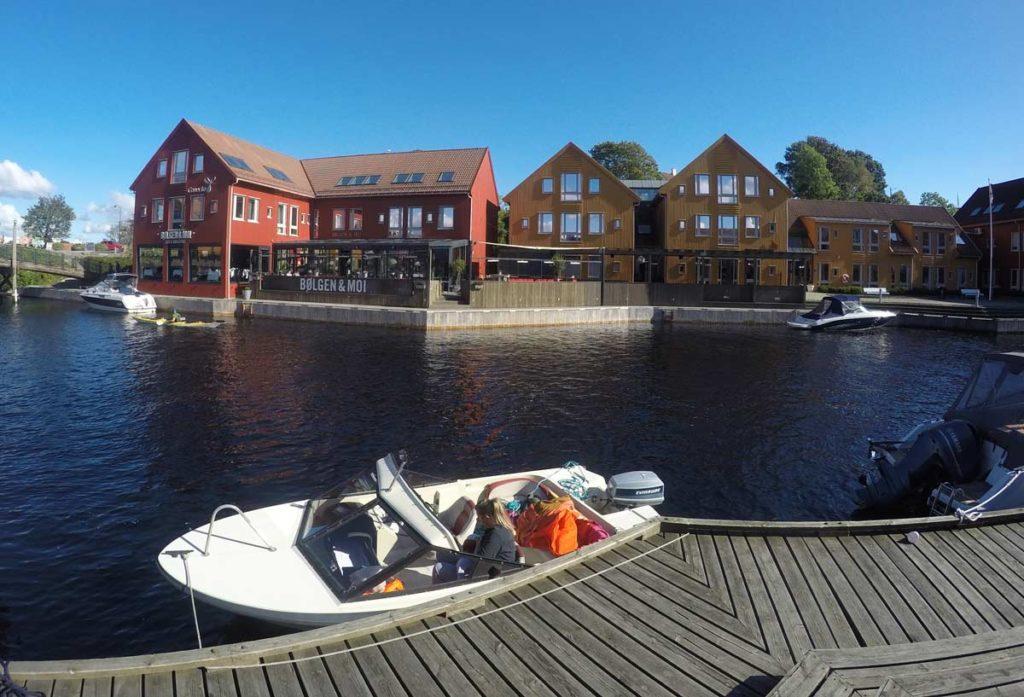 centro de kristiensand, na Noruega.