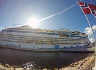 navio atracado na Noruega