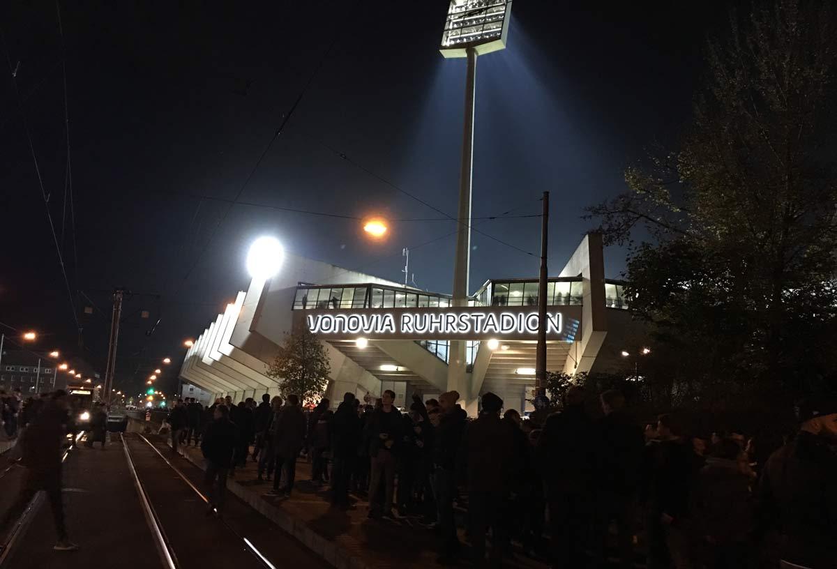 estádio de futebol do VFL Bochum visto por fora