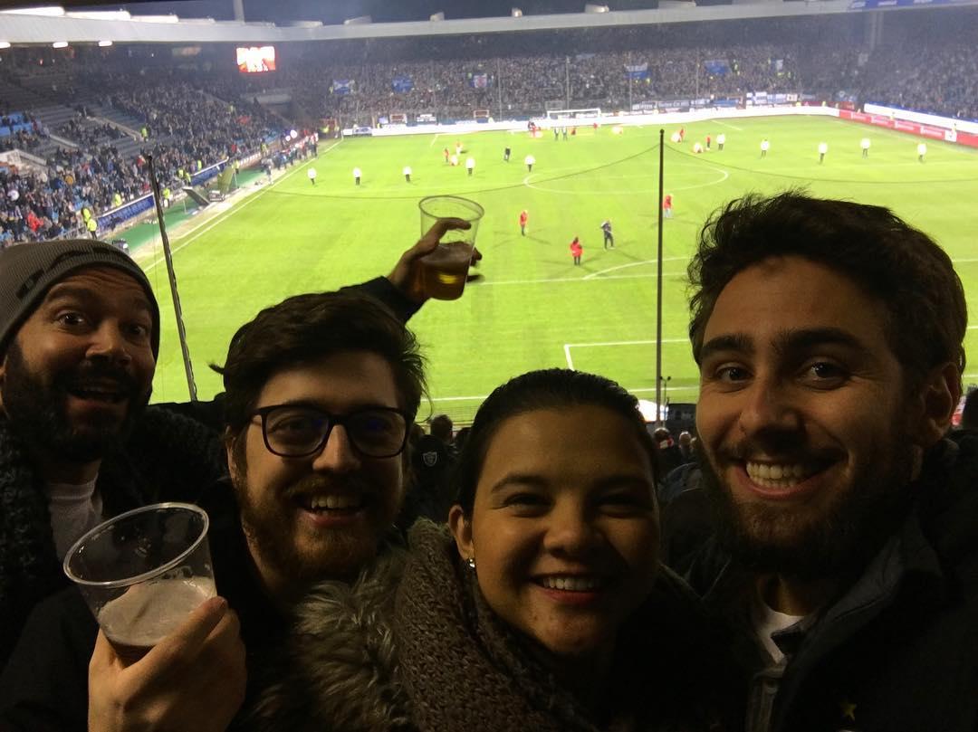 grupo torcedores no estádio do Bochum