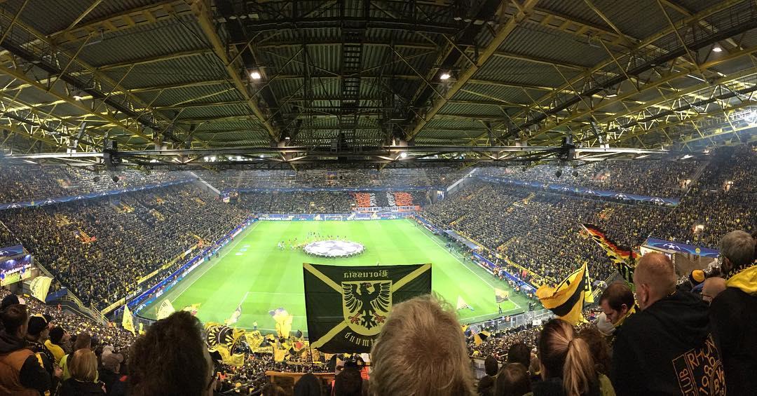 A experiência na maior geral do mundo em um jogo do Borussia Dortmund