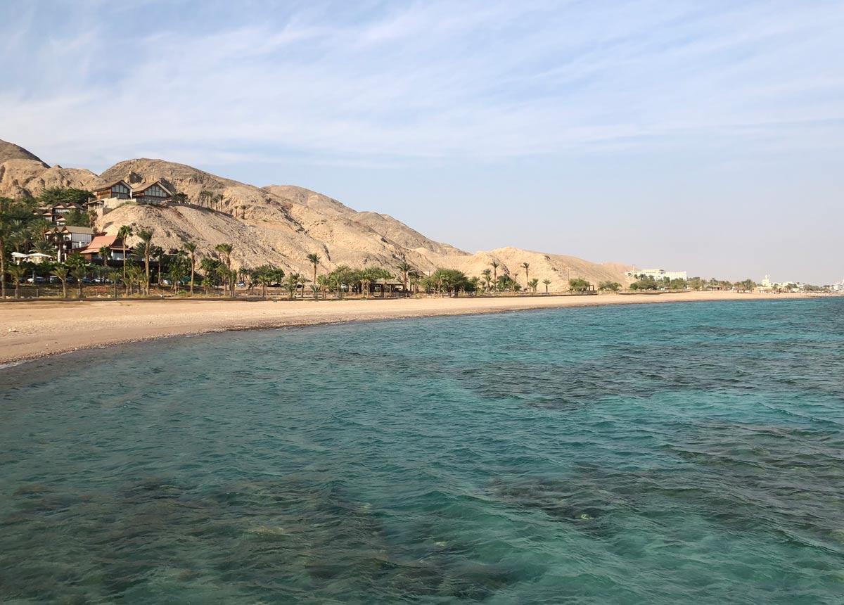praia de Eilat em israel