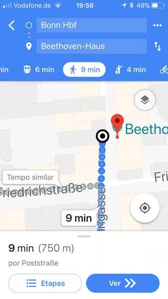 captura de tela do google maps