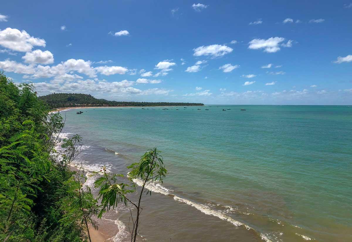 vista do alto do mirante de Japaratinga, em Alagoas