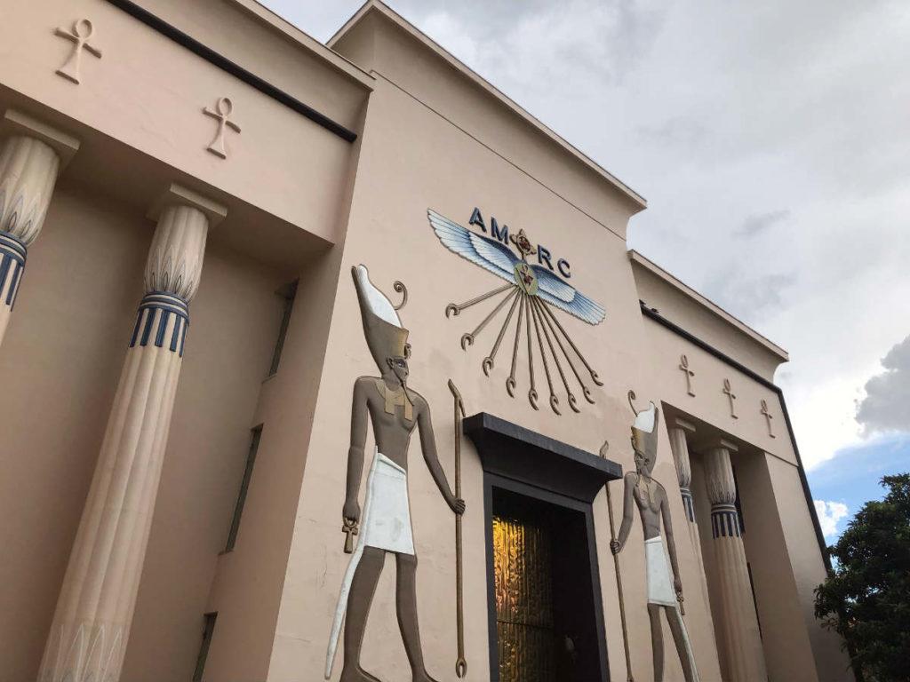 museu egípcio visto do lado de fora