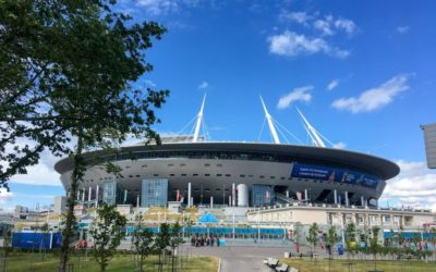 Como é assistir um jogo na arena do Zenit em São Petersburgo