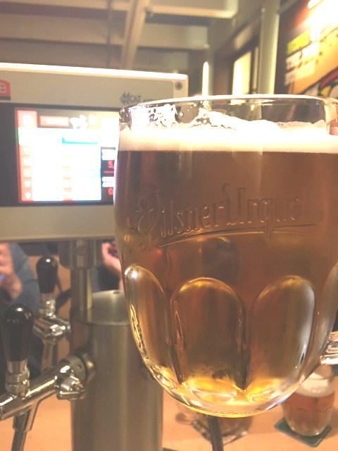painel mostra a quantidade bebida pelo cliente no the pub