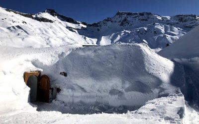 A nossa experiência de comer num iglu na Suíça